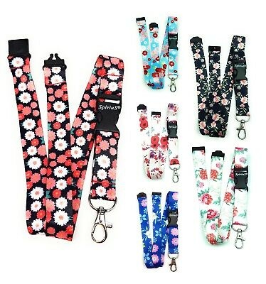 Spirius flowers Lanyard Neck Strap for ID Card Keyring Key Badge Holder