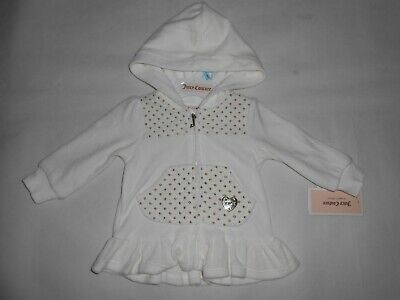 New Juicy Couture Baby Girl white hoody 3-6months RRP $65