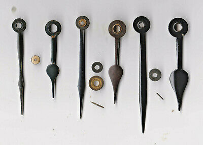 CLOCK  PARTS 3,SETs OF  CLOCK  HANDS  ,  65/ 51, 69 /55 ,78 / 61