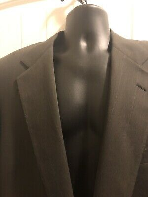 Pierre Cardin Mens Olive Green Wool 2pc Suit 42R 34x29