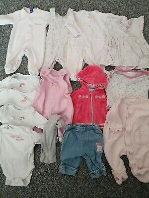 Girls Up To 1 Month, New Baby, First Size, Newborn Bundle *Combined Postage*