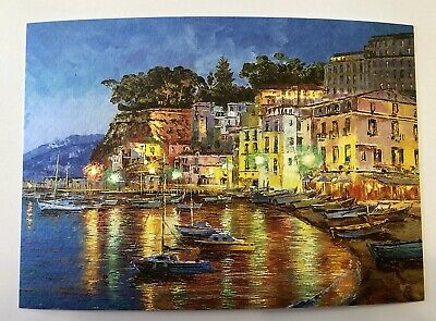 PostCard Of Italy-4,1/2x6,3/4inch Sorrento printed On Pounded Paper.-MadeInItaly