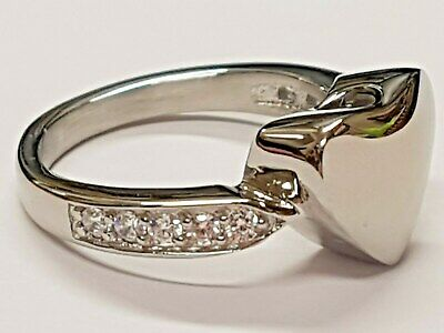 Heart Ring Jewellery Cremation Urn Pendant Ashes Funeral Memorial UK R 1/2 US 9