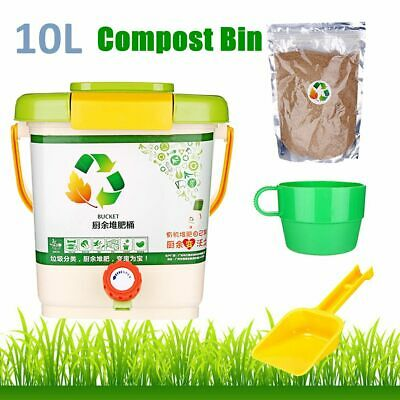 Aerated Bokashi Compost Bin Composter Bucket for Organic Kitchen Food Waste