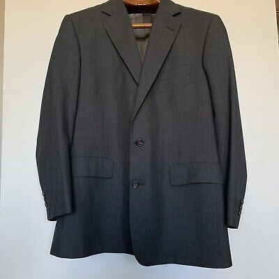 Men's Brooks Brothers BrooksEase Charcoal 100%Wool Blazer/Sportscoat Sz 43R Gray