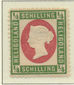 Heligoland Stamp Scott #7, Mint Hinged, Original Gum, Hinge Remnant