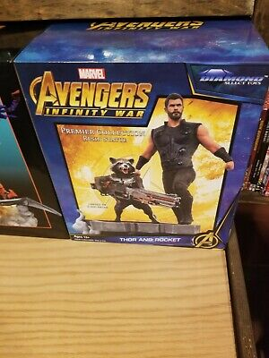 AVENGERS 3 Infinity War THOR and ROCKET Limited Edition Statue MARVEL Premiere!