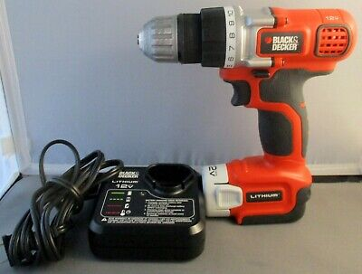 Black & Decker 12V Lithium Drill LDX112 Type 1 with Battery and Charger