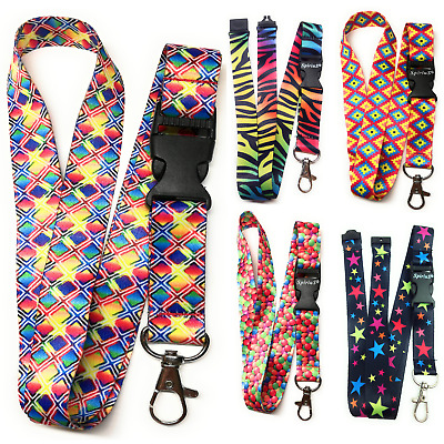 Rainbow Lanyard Neck strap for ID card key badge Holder Spirius