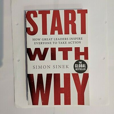 Start With Why by Simon Sinek, Like New Free Shipping