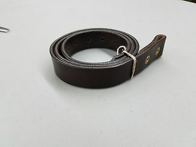 """Size 38 Brown English Bridle Leather Belt for Snap on Buckles, Made USA 1.25"""""""