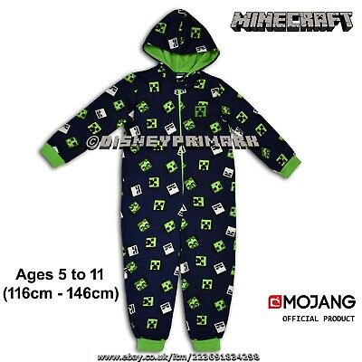 Official MINECRAFT ONESY All In One Sleepsuit PJ Creeper Mojang MineCon Pajamas