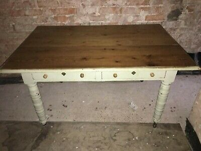 French Victorian Dining Table and 4 Chairs. 2 Cutlery Drawers