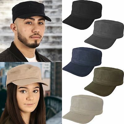 Men Women Casual Baseball Flat Patrol Hats Army Cadet Combat Field Military Cap