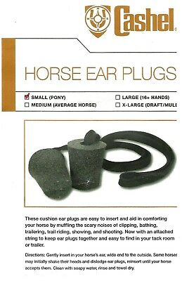 Large//16+ Hands Training Aid Foam Horse Ear Plugs Muffles Clipping Riding Showing