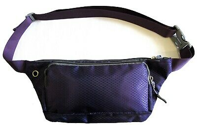 2pc Pair Durable Rip Stop Nylon Bum Waist Pouch Fanny Pack Camping Sport Hiking