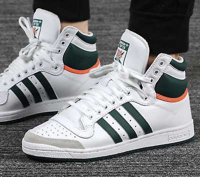 New adidas Originals  Top Ten Mens white green Leather Athletic sneaker all siz