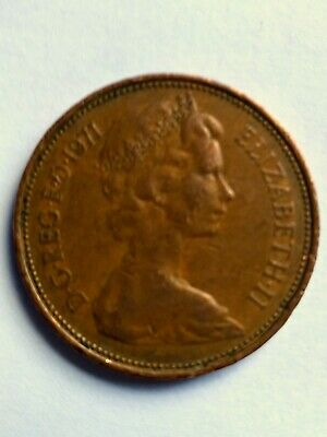 1971 2P NEW PENCE Coin, Rare First Decimal Coin UK, Genuine First Edition