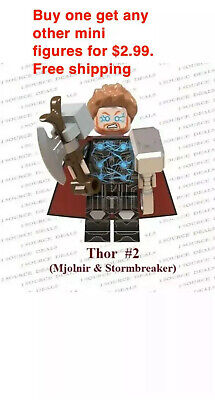 Avengers Minifigure Building Blocks Fits Lego End Game Thor Worthy Mjolnir NEW
