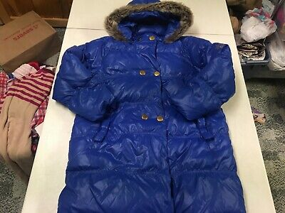 Hanna Andersson  Gorgeous Blue Down Hooded Parka Winter Coat  Girls  130  7  8