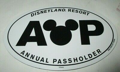 Disneyland Annual Passholder AP - Oval Mickey Mouse Car Magnet