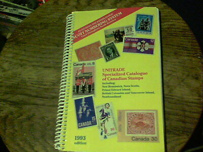 1993 Unitrade Specialized Catalogue of Canadian Stamps