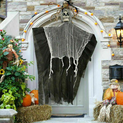 Halloween Hanging Ghost Skull Skeleton DIY Party Home Door Decor Scary Props BK