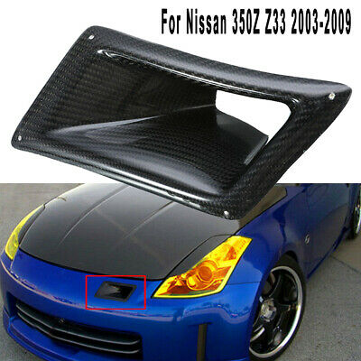 Left Side Only Carbon Fiber Front Bumper Intake Hole Air Duct Cover for Nissan 2003-2009 350Z Z33