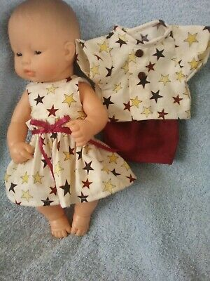 32cm Miniland  Doll Clothes For Twins (boy and agirl)