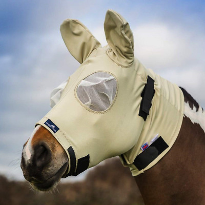 Snuggy Hoods Sweet Itch Head/Fly Mask with Zip - Insect & UV Protection Beige,