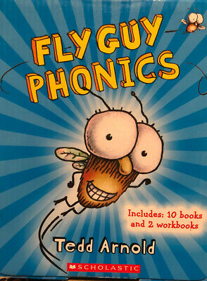 Fly Guy Childrens Books Phonics Learn to Read Box Set 10 And 2 Workbooks