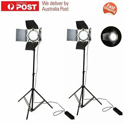 2Pcs 65W LED Red Head Continuous Light & 2m Light Stand for Studio Photography