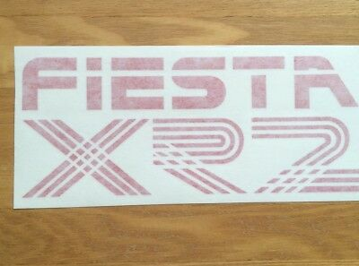 Ford Fiesta XR2 Mk2 tailgate decal