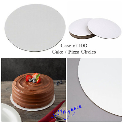 """White Corrugated 8"""" Cake / Pizza Circle (8 inch) Greaseproof, Case of 100"""