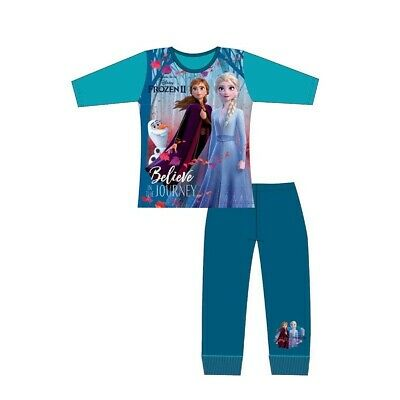 Frozen 2 Girls Pyjamas Disney Anna and Elsa Pjs Sleepwear Ages 1.5 to 10 Years