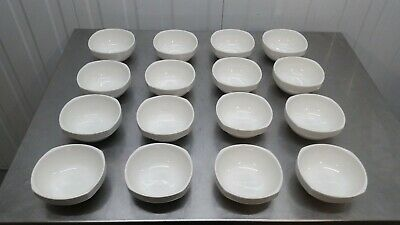 6X Olympia Whiteware Oval Eared Dishes 204Mm White Porcelain Serving Crockery