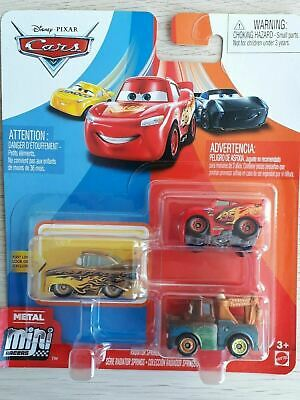 Disney Pixar Cars Mini Micro Racers 3 Packs