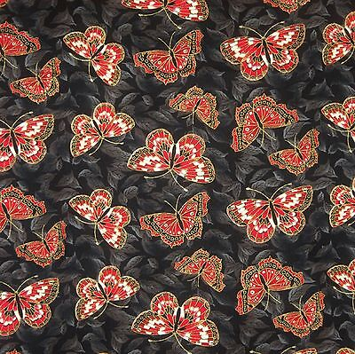 TADASHI RED ROOSTER  Buds Lt Blue 24143 Japanese Oriental 100/% Cotton Fabric FQ