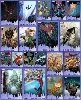 Topps Marvel Collect HEROES OF NEW YORK 2019 [19 CARD BLUE SET] Spider-Man/Hulk+