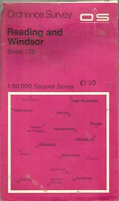 Reading Windsor Vintage Map 175  Ordnance Survey  Paper 1:50000 1978 B4