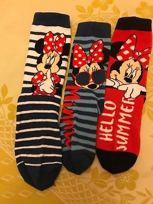 girls Disney Minnie Mouse assorted socks
