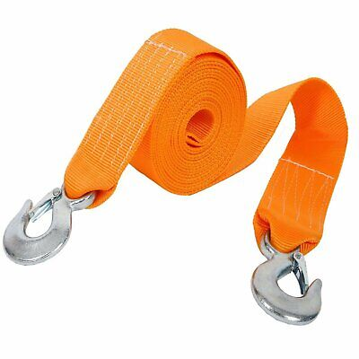 Tow Rope 8T 4x4 6M Heavy Duty Towing Pull Strap Road Recovery with Two Shackles