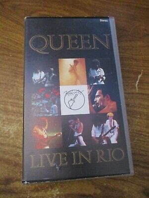 Queen Live in Rio  VHS Video Tape (NEW)