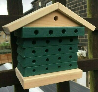 Solitary Bee House Hive Garden Hotel Flower Pollinator Wood Construction