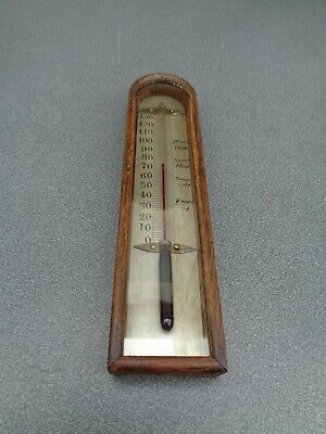 Wheel Barometer Arch Top Thermometer 178 Mm Long Parts Spares