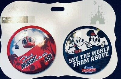 Disney Skyliner There's Magic In The Air/The World Above Button Set-SHIPS FREE