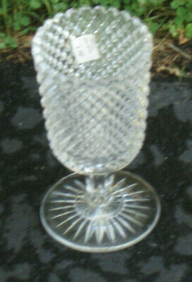 Antique sawtooth crystal Victorian spooner early non-flint possible 1860's.
