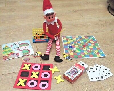 Elf Size Games Kit Props Toys Gifts Ideas on the shelf for Christmas Pack of 6