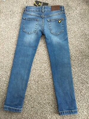 Boys Lyle And Scott Skinny Denim Jeans Size 5-6years, New With Tags RRP£45.00
