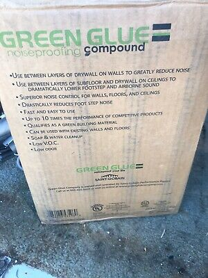 Green Glue Soundproofing Damping Compound - Case of 12 Tubes - One Damaged
